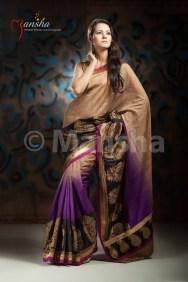 Eid-ul-Fitre 2012 Designer Saree Collection by Mansha009