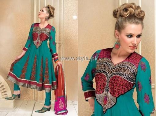Formal Wear Anarkali Frocks Designs for Women 001