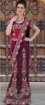Latest Bridal Saree Trends 2012 For Women 005