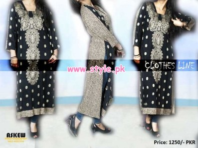 Latest Clothes Line Winter Dresses 2012 For Women 009