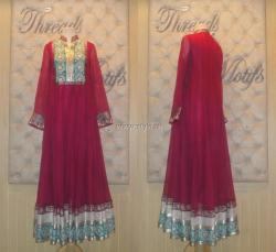 Threads and Motifs New Embroidered Dresses 2013 for Ladies 003