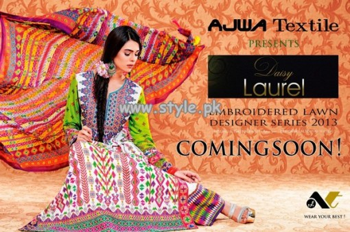 Ajwa Textile Daisy Laurel Collection 2013 001