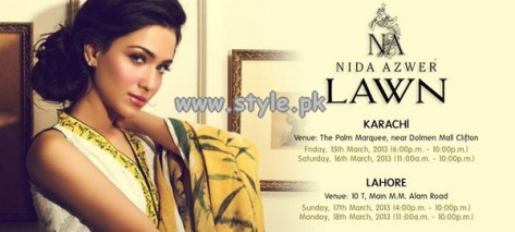 Nida Azwer Lawn Collection 2013 For Women 002