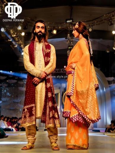 Deepak Perwani Bridal Collection at BCW 2013 007