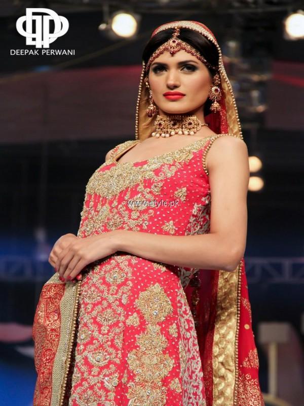 Deepak Perwani Bridal Collection at BCW 2013 015