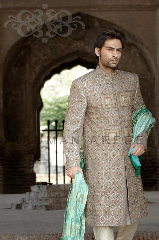 Naushemian Sherwani Collection 2013 For Men 004