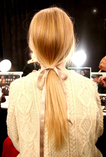 low, loose ponytail