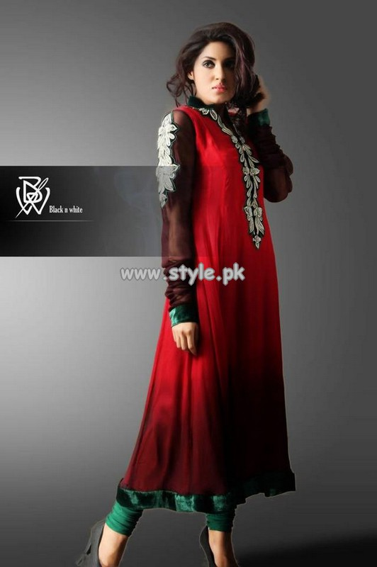 Black and White Couture Party Wear Collection 2013 For Summer 003