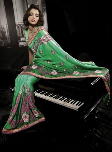 Nakshatra Designerwear Summer Saree Collection 2013 For Women 004