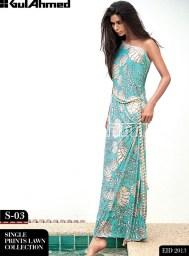 Gul Ahmed Single Lawn Eid Collection 2013 0011