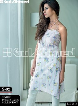 Gul Ahmed Single Lawn Eid Collection 2013 007