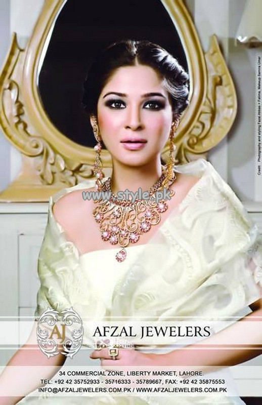 Afzal Jewelers Necklace Designs 2013 For Bridal Wear 002