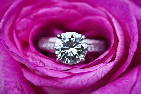 Beautiful Diamond Engagement Ring In Flower