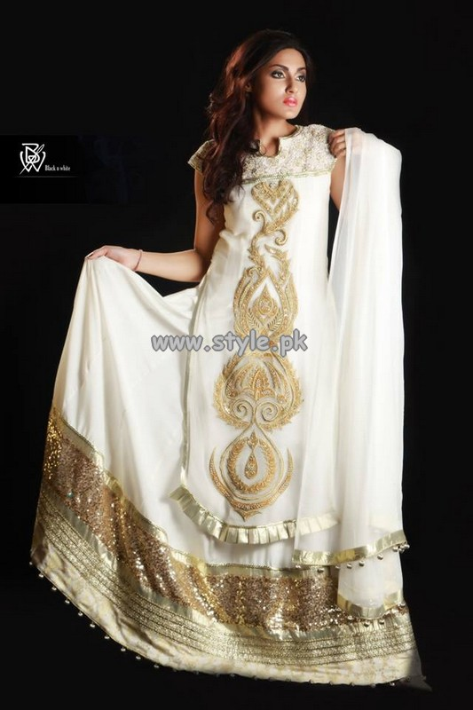 Black and White Couture Eid Collection 2013 For Women 010