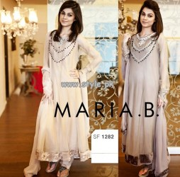 Maria B Embroidered Dresses 2013 For Eid 005