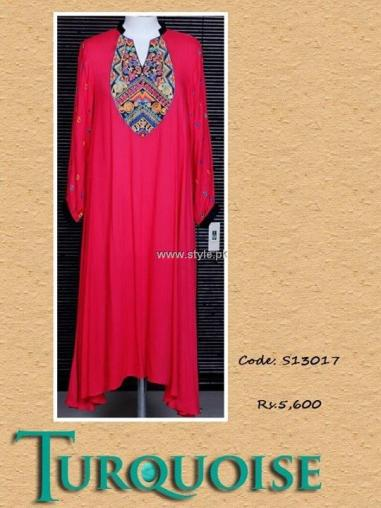 Turquoise Eid Collection 2013 for Women 009