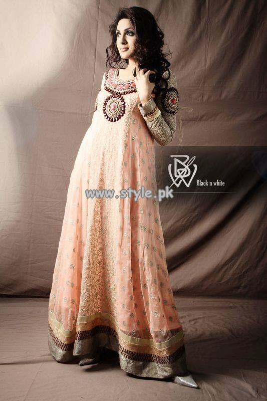 Black and White Couture Formal Dresses 2013 For Girls 001