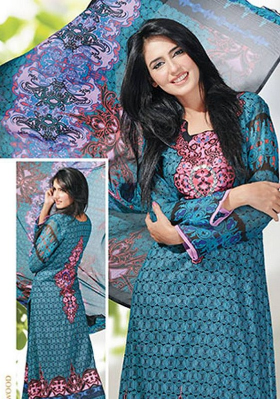 Dawood Textiles Chiffon Lawn Collection 2013 Volume 4 For Women 001