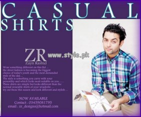 Zayn Rashid Casual Wear Shirts 2013 For Boys 003