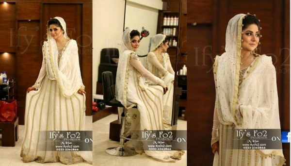 Actres Sanam Baloch Nikkah Pictures - White Dress 010 800x457