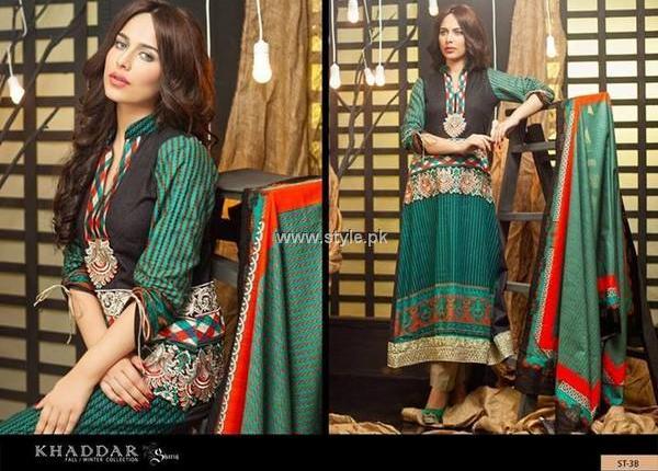 Khaddar Dresses 2013 by Shariq Textiles for Women
