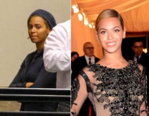 Beyonce Knowles With&without makeup