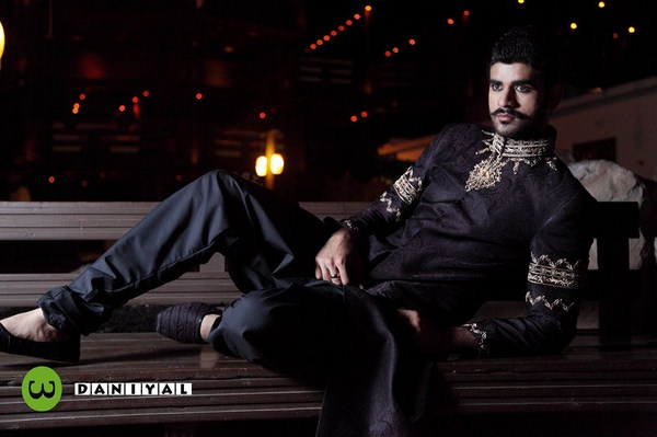 Daniyal Sherwani Designs 2013-2014 For Men 004