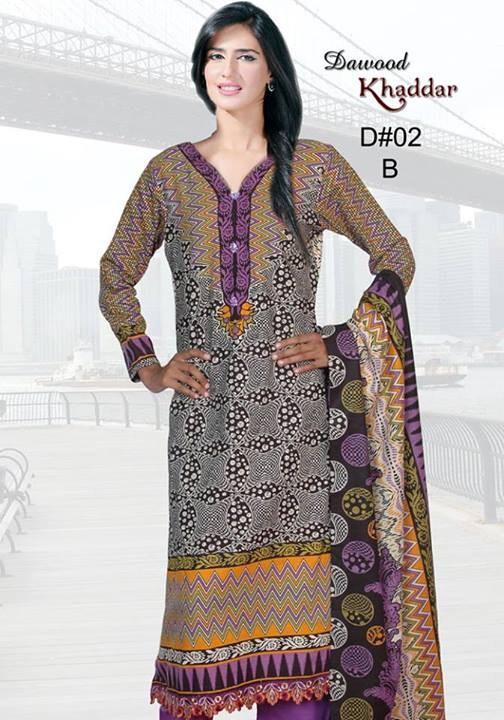 Dawood Textiles Khaddar Dresses 2013 For Women 001