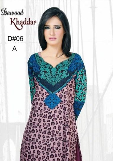 Dawood Textiles Khaddar Dresses 2013 For Women 003
