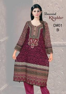 Dawood Textiles Khaddar Dresses 2013 For Women 005