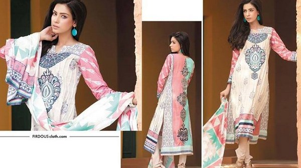 Firdous Khaddar Dresses 2013-2014 for Women