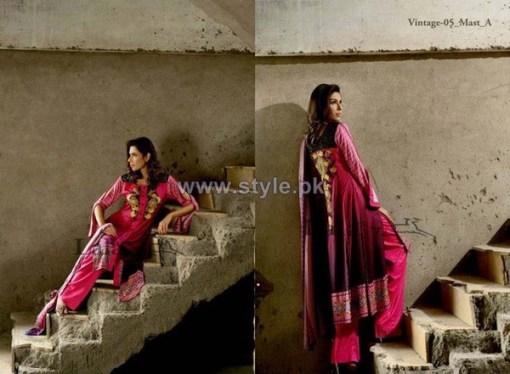 Lala Textiles Vintage Shawl Dresses 2013-2014 For Winter 5