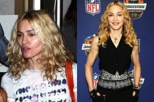 Madonna With&without makeup
