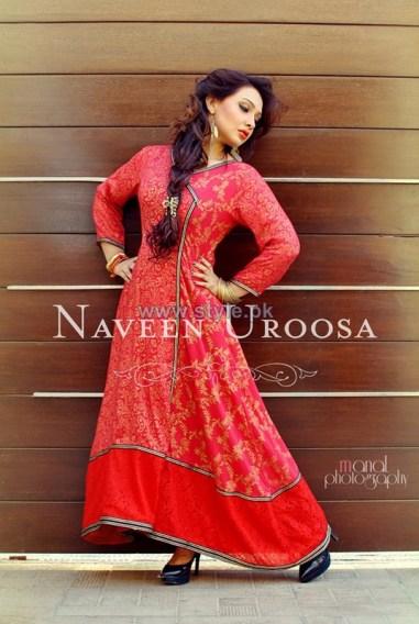 Naveen Uroosa Winter Dresses 2013-2014 For Girls 1