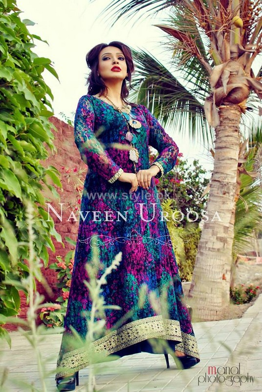 Naveen Uroosa Winter Dresses 2013-2014 For Girls 2