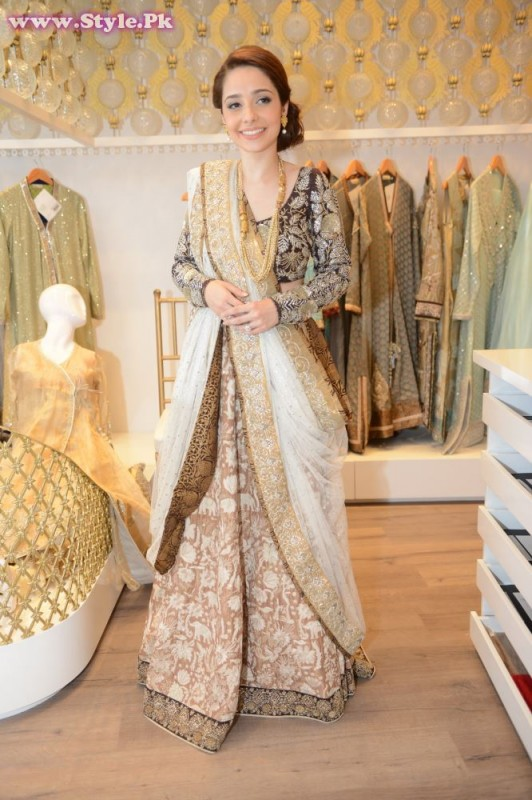 Juggun Kazim wearing a Nida Azwer Ensemble