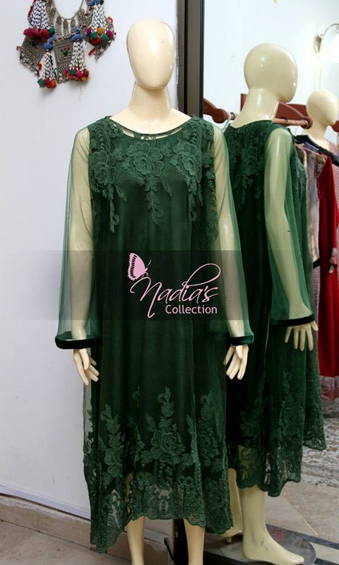 Nadia's Collection Winter Dresses 2014 For Women 005