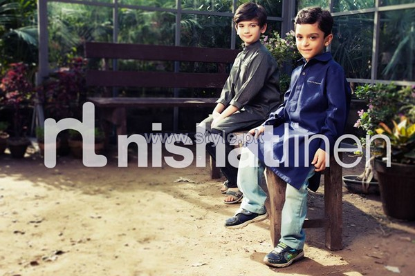 Naqsh Prince Winter Dresses 2013-2014 by Nishat Linen 9