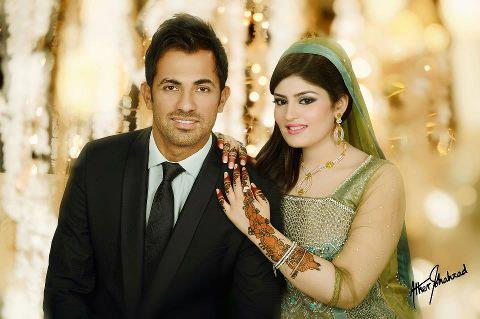 Wahab Riaz Wedding Pictures with Zainab Chaudhry