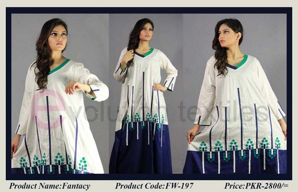 Evolution Textile Winter Dresses 2014 For Women 006