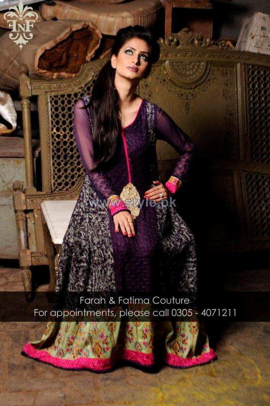 Farah and Fatima Couture Winter Dresses 2014 For Women 5