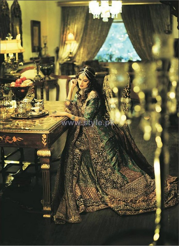 Meeras Bridal Wear Clothes 2014 by Nilofer Shahid 1
