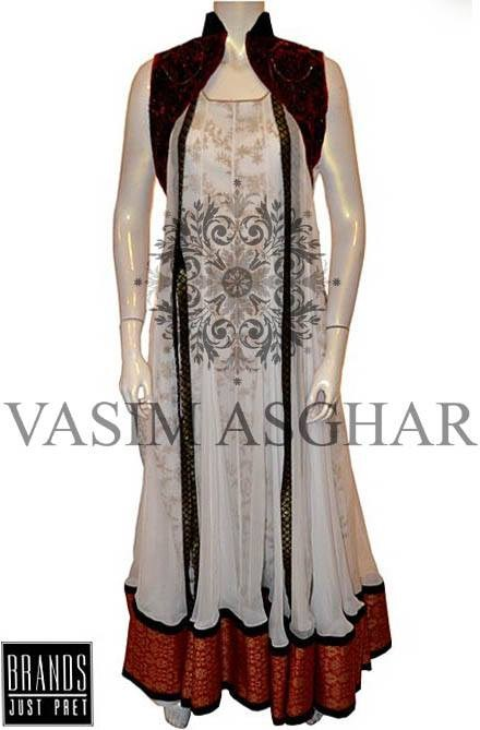 Vasim Asghar Party Dresses 2014 For Women 006
