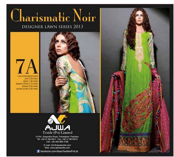 Ajwa Textile Lawn Dresses 2014 For Women 004