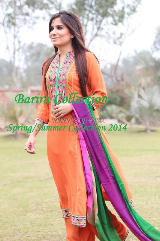 Barira Spring Summer Dresses 2014 For Girls 3