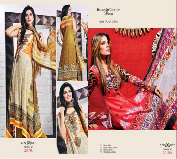 Dawood Textiles Spring Dresses 2014 For Women 009