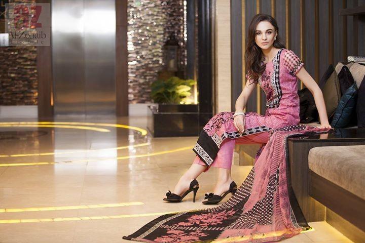 Mahnoor Spring Dresses 2014 by Al-Zohaib Textile