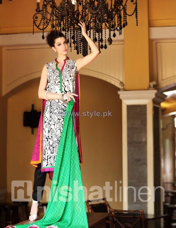 Nishat Linen Spring Summer Dresses 2014 Volume 1 8