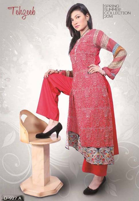 Shahzeb Designer Spring Dresses 2014 For Women 0013