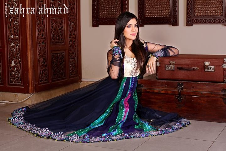 Zahra Ahmad Semi-formal Wear Dresses 2014